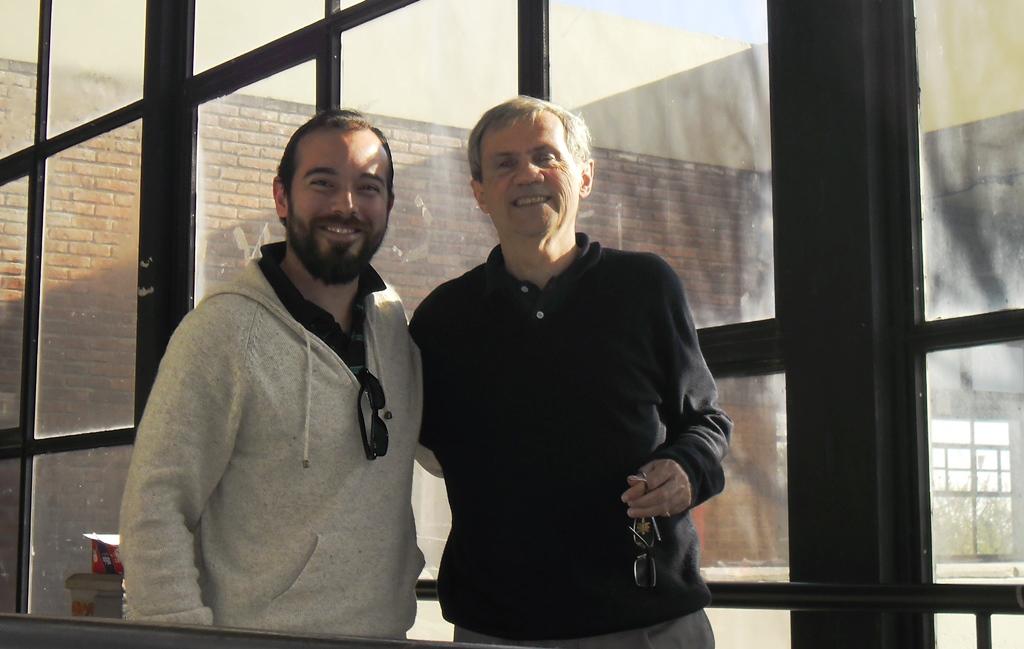 """Martín junto a Rodrigo Arocena (ex rector de la UDELAR entre 2006 y 2014, mentor de la denominada """"Segunda Reforma"""") ."""