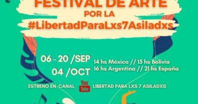 Festival de Arte por la #LibertadParaLxs7Asiladxs