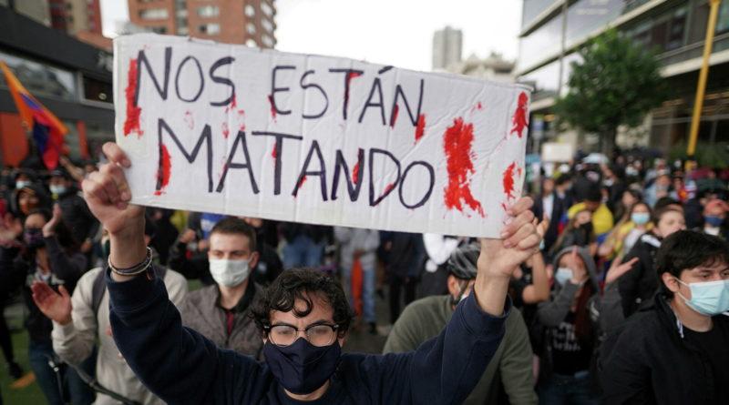 El mundo entero repudia la situación de los derechos humanos en Colombia