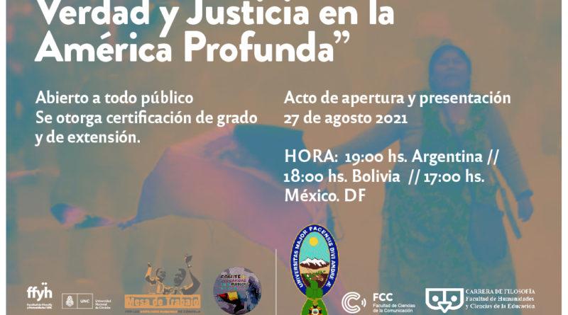 Comienza el Seminario internacional Luchas por la Memoria, Verdad y Justicia en la América Profunda