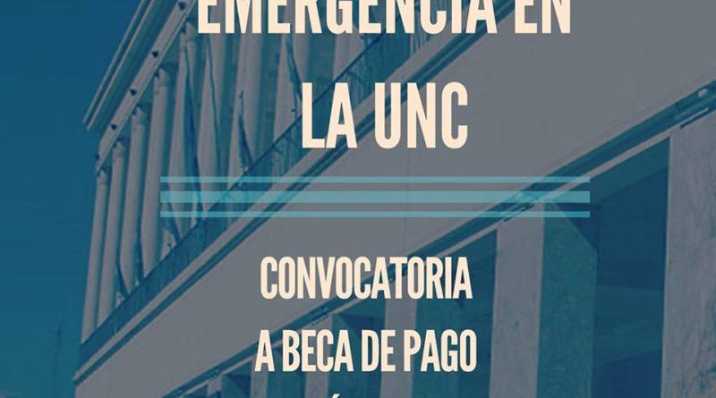 Emergencia en la UNC: Convocatoria a Beca de Pago Único – 23 de Septiembre al 4 de Octubre
