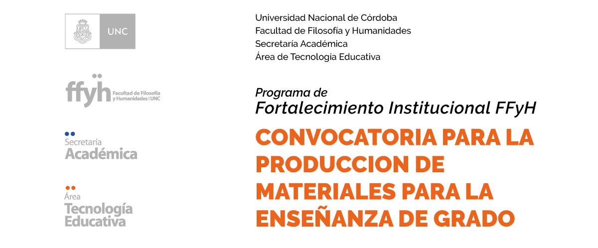 Convocatoria para producción de materiales para la enseñanza de Grado