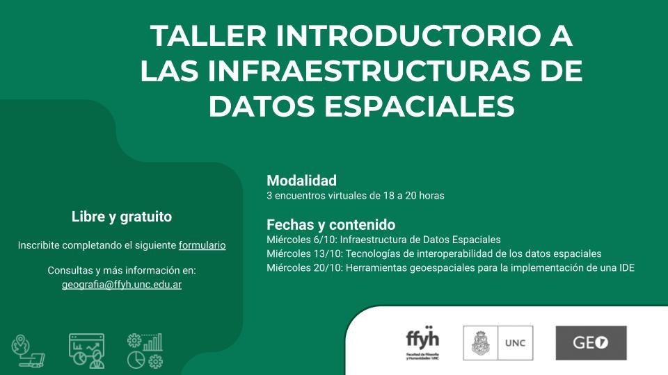 Taller introductorio a las infraestructuras de datos espaciales