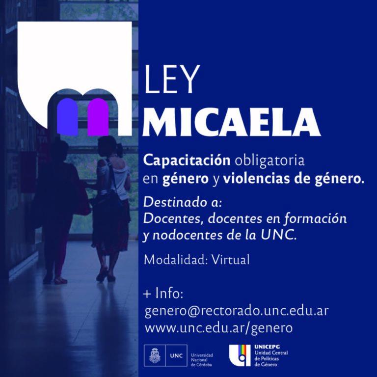 Prórroga Cursos Ley Micaela en la UNC | 2° edición